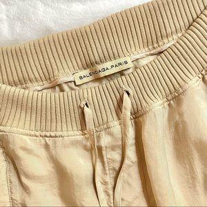 Balenciaga Nude Ribbed Top Silk Skirt